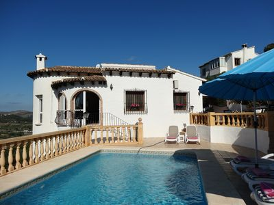 Photo for Villa Monte Pedreguer, max 6, private pool, air con, wifi, stunning view, bbq.