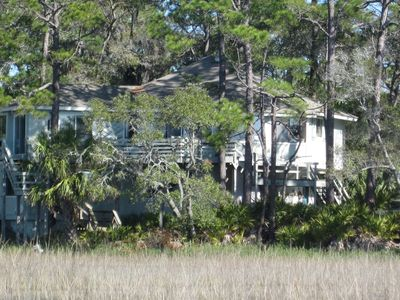 Photo for Octagonal Tree House Nestled In A Private Serene Island Marsh Setting