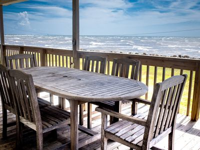 Photo for Tuck's Landing - A Beautiful Ocean Front Beach House Near Historic Galveston!