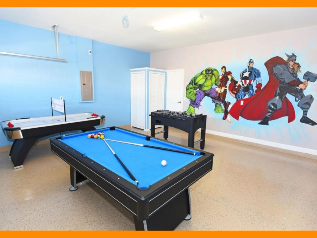 Championsgate Villa With Pool Themed Bedrooms And Game Rooms - Pool table jack rental