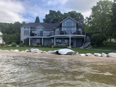 Photo for 132 ft. Of Pristine Sandy Beachfront Within Walking Distance To Boyne City!