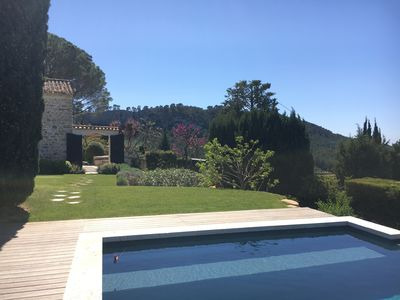 House view from pool