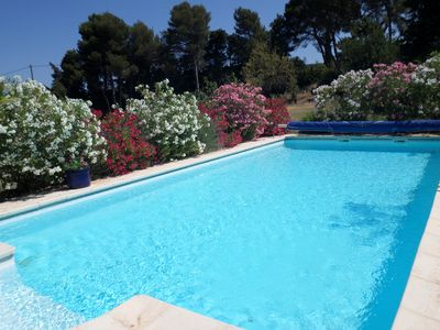 Photo for Independant gite on wine domaine  Sleeps 2 or 4, Saltwater heated pool spa.