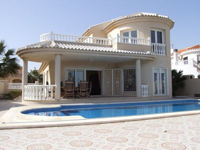 Photo for Beautiful Front-Line Villa with Stunning sea views & very large Private Pool