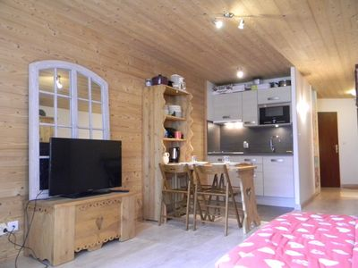 Photo for Apartment 1.3 km from the center of La Clusaz with Internet, Balcony, Terrace (997221)