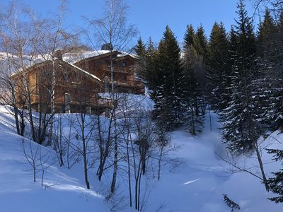 Photo for Chalet at the foot of the slopes with 2 covered parking