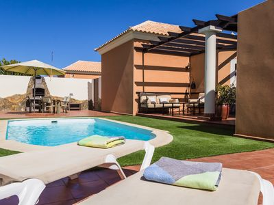 Photo for Quality Villa with Private Heated Pool, Jacuzzi, Free WIFI, Sky TV