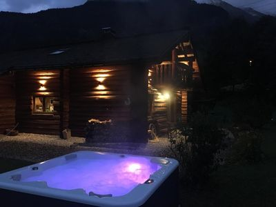 Photo for Log cabin with Jacuzzi
