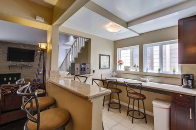 Eat up bar area with Granite Counter stops