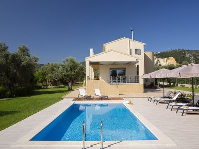 Photo for Modern newly built house 150m2, children friendly,  in an olive grove 4000 sq