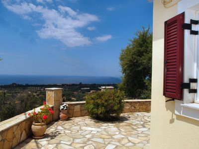 Photo for Villa with Sea View & Spectacular Sunsets in a Peaceful Location