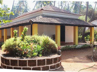 Photo for Goan beach house on Anjuna beach