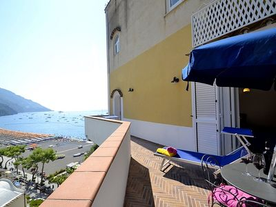 Photo for Casa Samuela: A charming ancient house overlooking the sea and the main beach of Positano, with Free WI-FI.