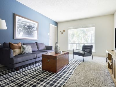Photo for Sonder | 2306 Marquee Uptown | Bright 2BR + Pool