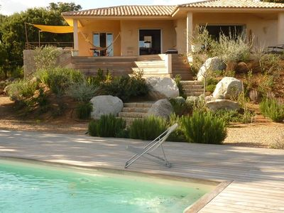 Photo for Charming villa, new, heated swimming pool, 300 m from the beach