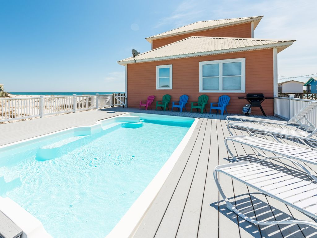 beautiful beach house private pool great views  fort