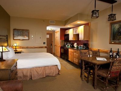 Photo for Suite + Fireplace| Access Pool, Hot Tub, Gym | On-site WATERPARK & Spa
