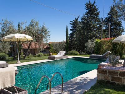 Photo for Private Villa with private pool, WIFI, TV, terrace, pets allowed, parking, close to San Gimignano