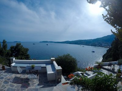 Photo for Fully equipped new house with spectacular seaview and a small beach right below!