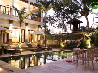 Photo for Quiet 7 BR Villa in Ubud - Pool - Breakfast and Shuttle included
