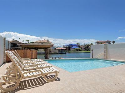 Photo for Casa Bahia: PRIVATE WATERFRONT home with GARAGE, POOL, FISHING DOCK & VIEWS!
