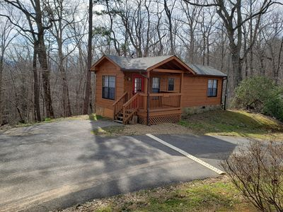 Photo for Secluded, Private Cabin w/ Hot Tub & Views. Perfect for a Romantic Getaway