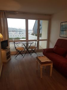 Photo for Studio of 24 m2 superb view on the port of Crouesy