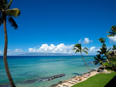 Photo for Lahaina Condos 2 units (308 and 410) AC, Pool, Intimate Oceanfront Property.