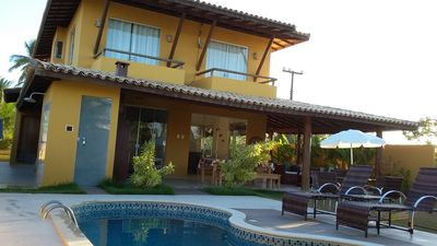 Photo for Excellent standard villa with private pool, bordering 70 meters from the beach.