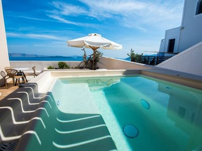 Photo for Stunning Blue 1 bedroom luxury villa with outdoor Hot tub