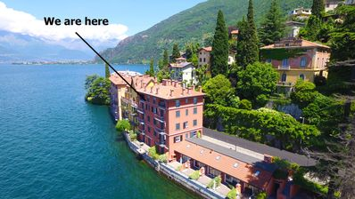 Photo for Blue Starlake Residence Lake Como apartment front lake with private garage