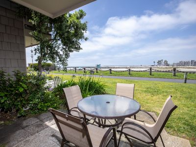 Photo for Panoramic Ocean & Harbor View Cottage with Grassy Walk-out Patio at NCV!