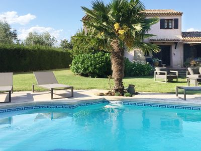 Photo for Villa with pool and stunning views in natural area, half hour drive from Cannes