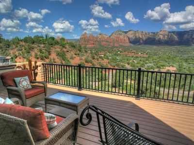 Photo for Spectacular Inside and Out Red Rock Vista View from Unique High-Up Home