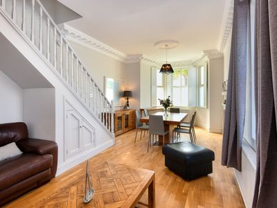 Photo for This exquisite and spacious two storey apartment with decadent interior and contemporary private rea