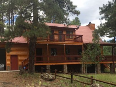 Photo for FAMILY SIZE CABIN IN THE PINES