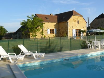 Photo for Beautiful Dordogne farmhouse  with private pool and superb  views