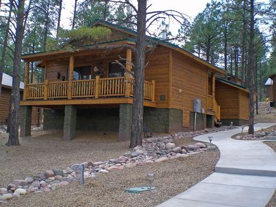 Photo for SERENITY LANDING a Four Season Mountain Rental Cabin