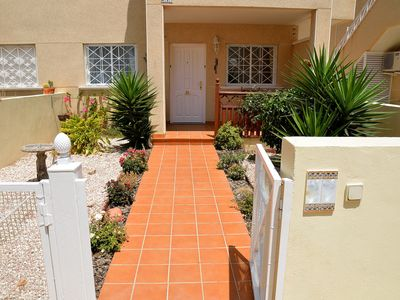 Photo for Ground Floor Maisonette With Private Garden Area And Gated Community Pool