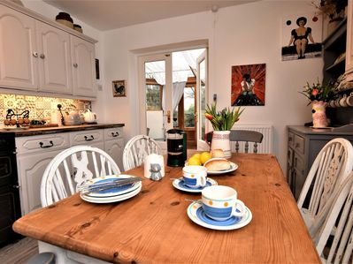 A warm welcome awaits in this gorgeous kitchen