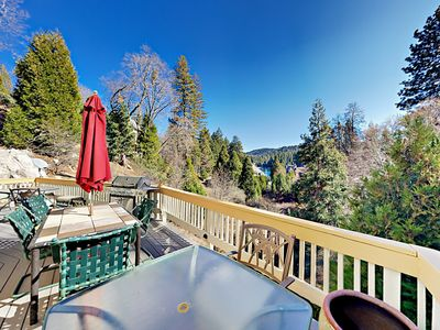 Deck - Welcome to Lake Arrowhead! Upper deck with 3 patio tables, BBQ, and lake views. This property is maintained and managed by TurnKey Vacation Rentals.