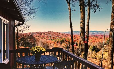 Photo for Mountain Top Cabin with Long Range Mountain Views, Near Brevard - Free Night!
