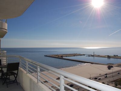 Photo for Sunny 2 BR Condo w/ Gulf Views, WiFi, Resort Pool & Fitness Center Access