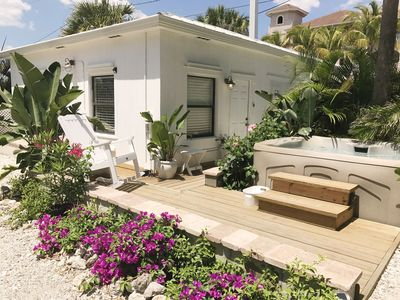 Photo for Charming Beachside cottage less than 30 steps from the beach!