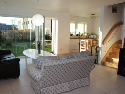 Photo for Passive house with 4 rooms and garden, 900 meters from the North Sea, 28 km from Brugge