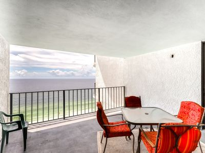 Photo for 2 bedroom/bath beachfront condo w/ pool & shared building amenities