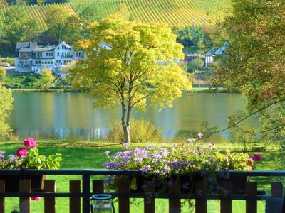 Photo for Directly on the Mosel 2 balconies dream view own Moselwiese barbecue WLAN 60qm