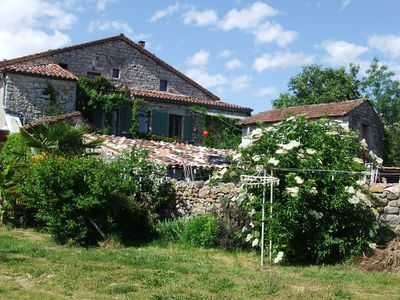 Photo for Authentic and comfortable Ardèche farmhouse in a green setting
