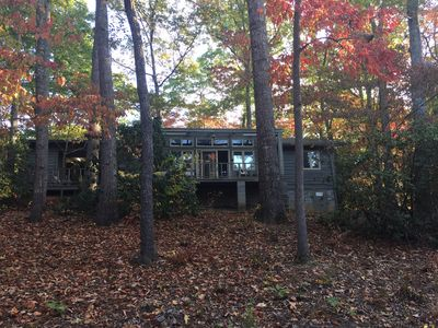 Back of cabin. Numerous widows  offer great views of the property
