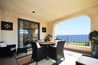 One of 6 Spacious Oceanview Balconies (2 with Patio Tables) This one is Covered